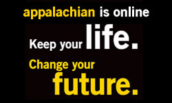 """Appalachian is online. Keep you life. Change your future."""